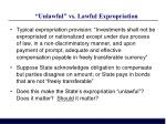 unlawful vs lawful expropriation