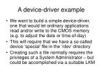 a device driver example