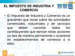 el impuesto de industria y comercio
