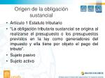 origen de la obligaci n sustancial
