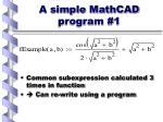 a simple mathcad program 1