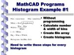mathcad programs histogram example 1