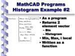 mathcad programs histogram example 2