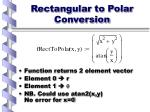 rectangular to polar conversion