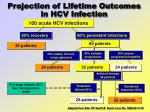 projection of lifetime outcomes in hcv infection