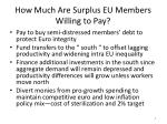 how much are surplus eu members willing to pay