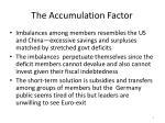 the accumulation factor