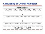 calculating of overall fit factor