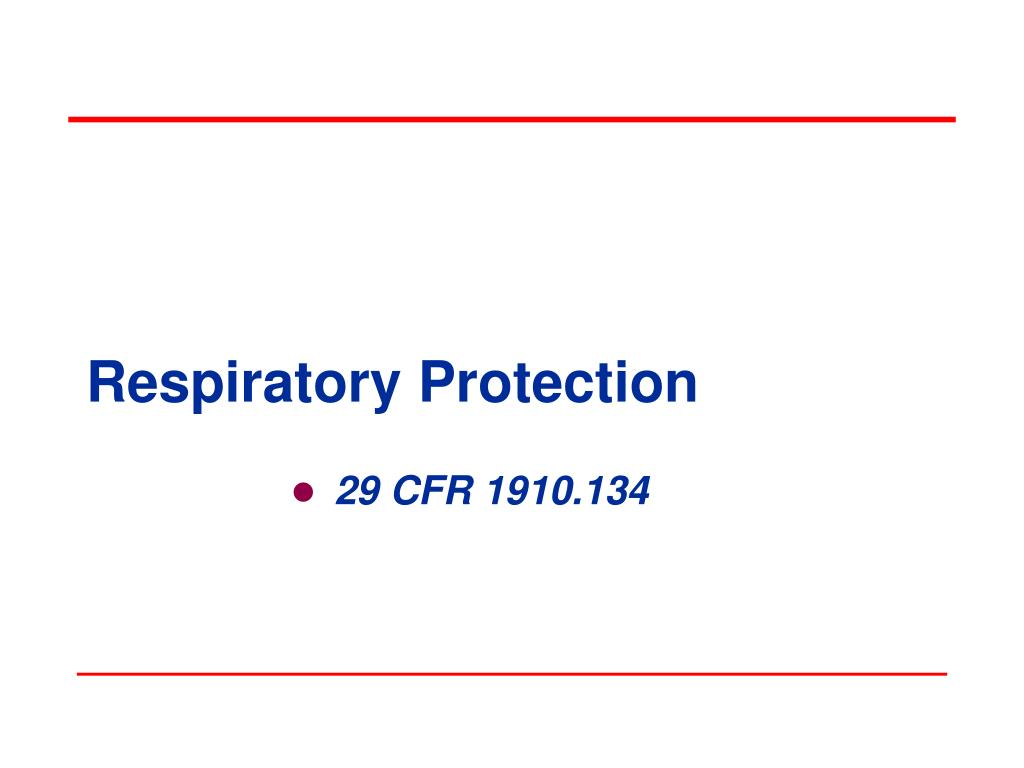 respiratory protection l.