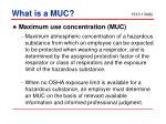 what is a muc
