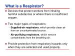 what is a respirator