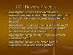 coi review process
