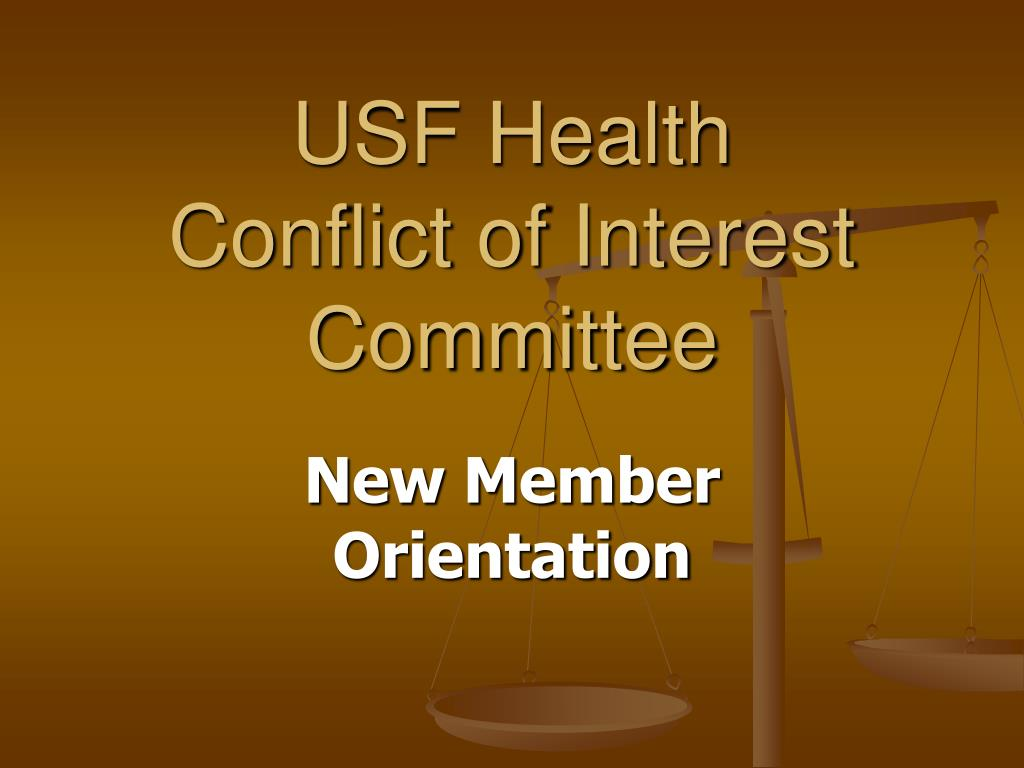 usf health conflict of interest committee l.