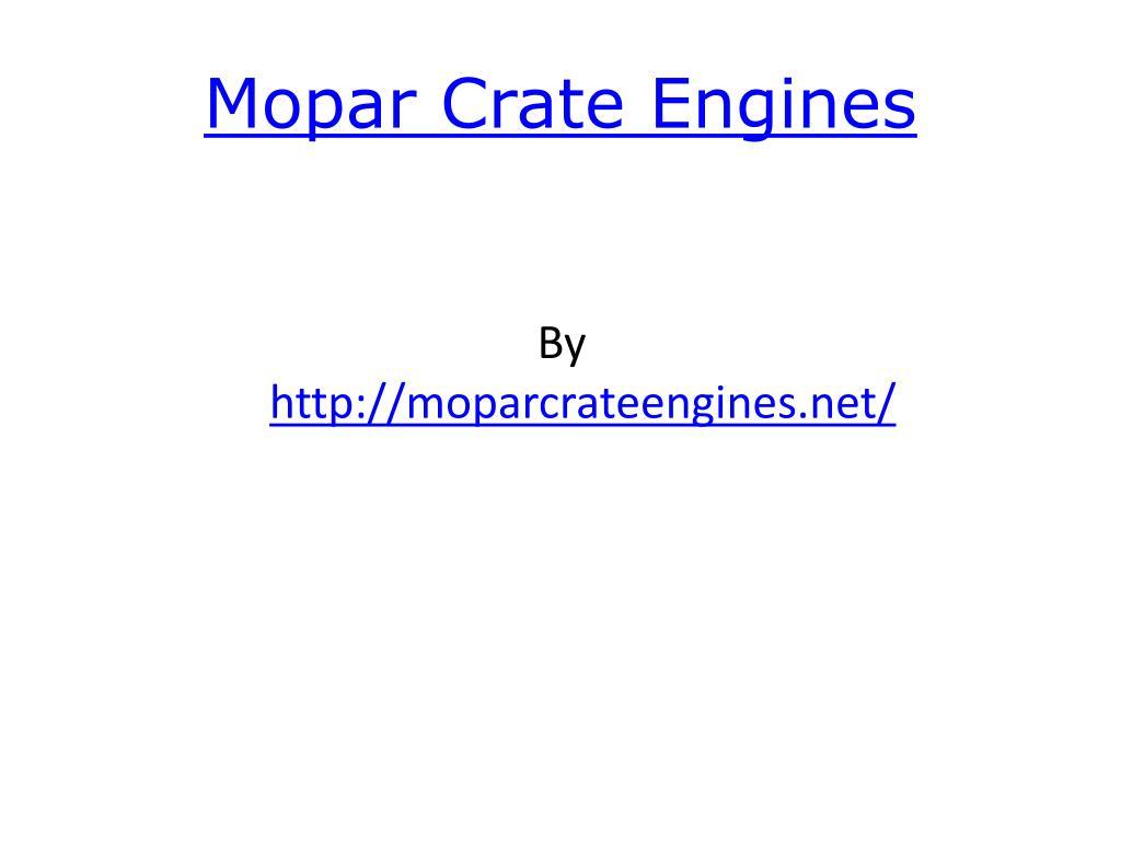 mopar crate engines l.