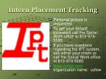 intern placement tracking25