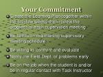 your commitment