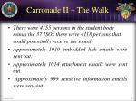 carronade ii the walk