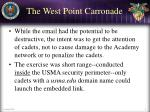 the west point carronade