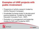 examples of uwe projects with public involvement1