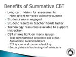 benefits of summative cbt