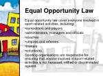 equal opportunity law