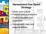 harassment free sport strategy