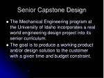 senior capstone design