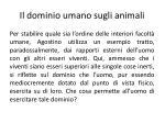 il dominio umano sugli animali