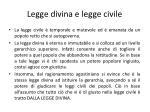 legge divina e legge civile