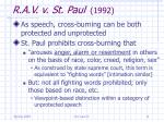 r a v v st paul 199211