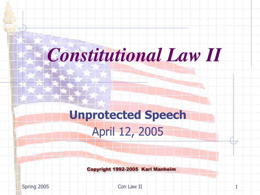 unprotected speech april 12 2005 l.