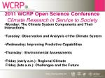 2011 wcrp open science conference climate research in service to society36