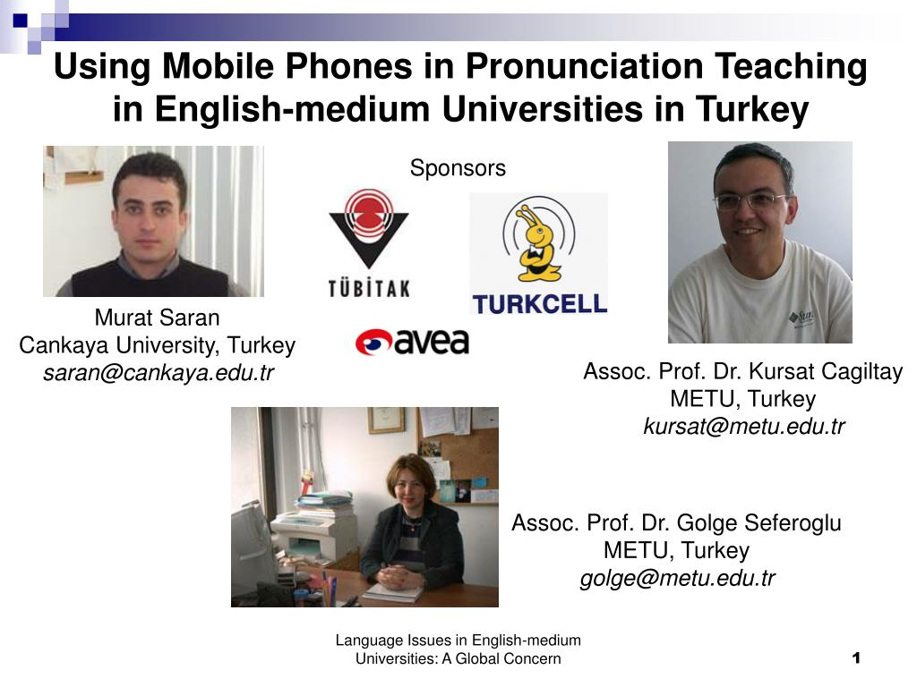 using mobile phones in pronunciation teaching in english medium universities in turkey l.