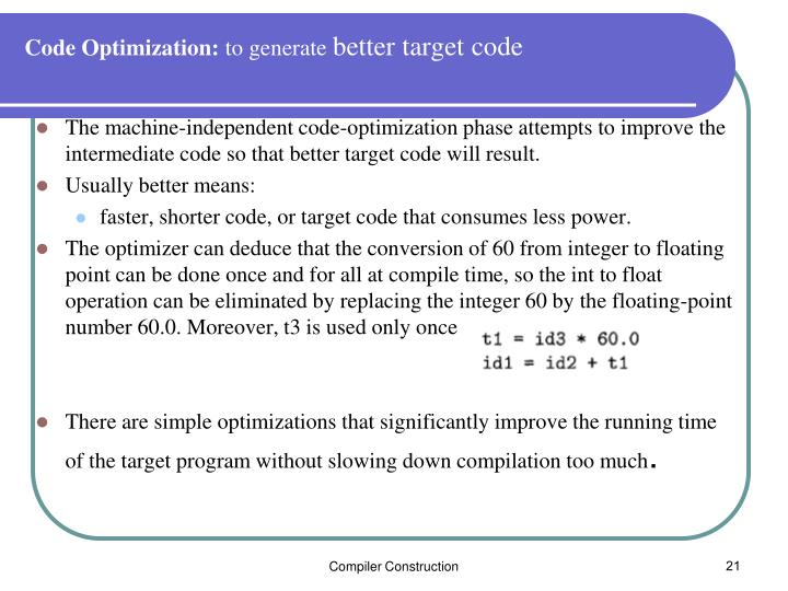 Code Optimization: