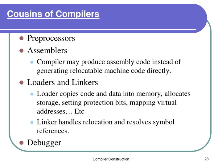 Cousins of Compilers