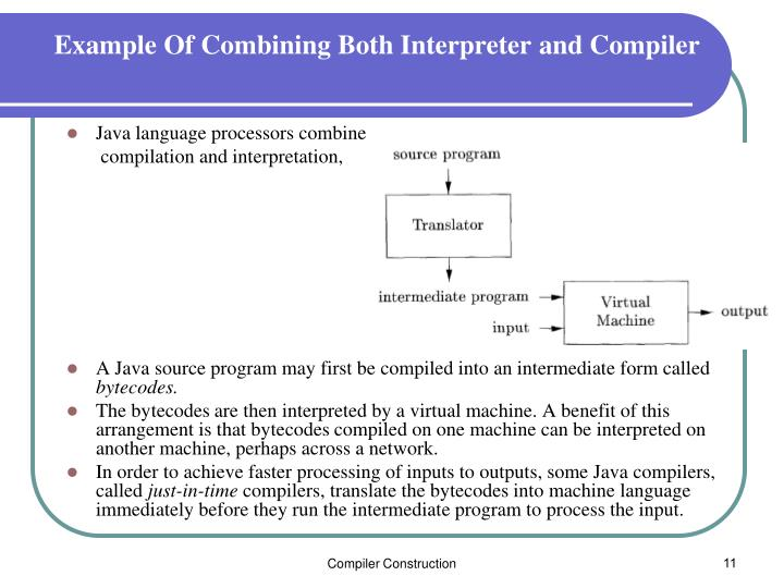 Example Of Combining Both Interpreter and Compiler