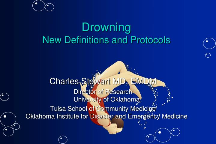 drowning new definitions and protocols n.