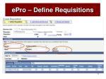 epro define requisitions