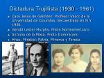dictadura trujillista 1930 196112