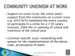 community unionism at work