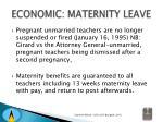 economic maternity leave