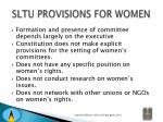 sltu provisions for women