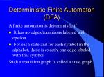 deterministic finite automaton dfa