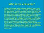 who is the character