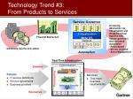 technology trend 3 from products to services
