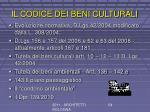 il codice dei beni culturali