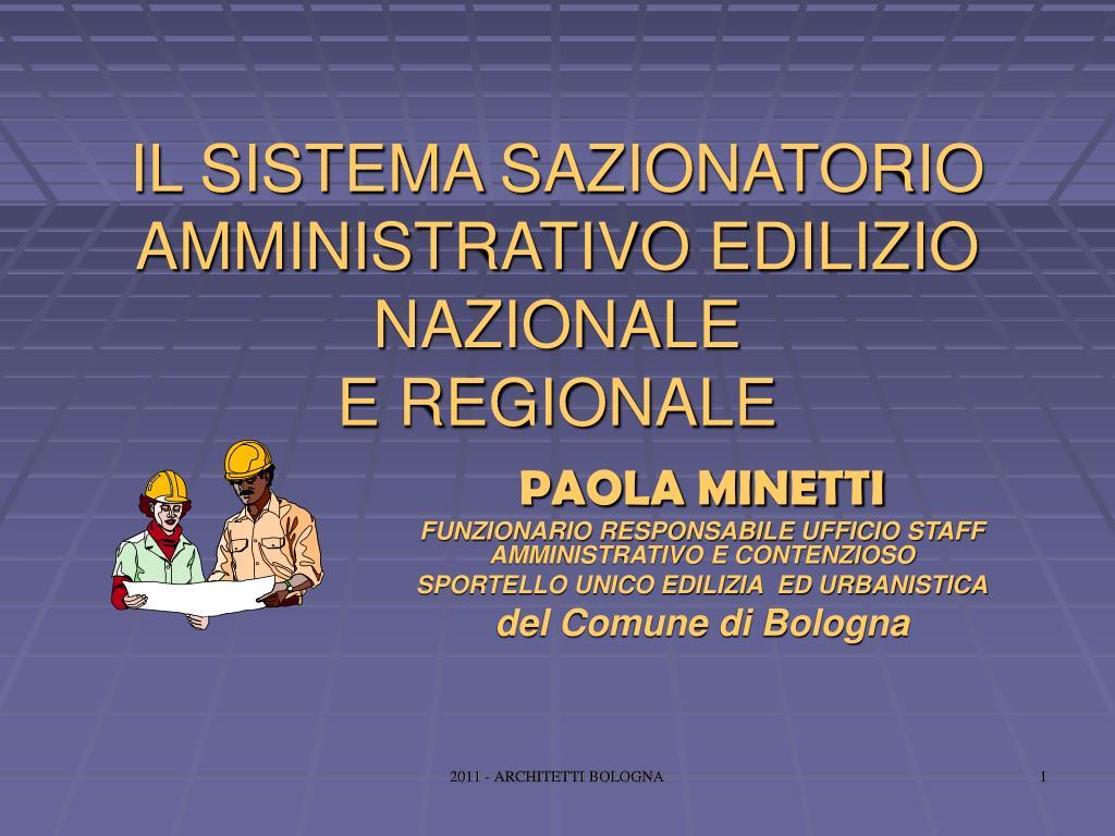 il sistema sazionatorio amministrativo edilizio nazionale e regionale l.