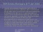 tar emilia romagna 877 del 2006