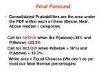 final forecast