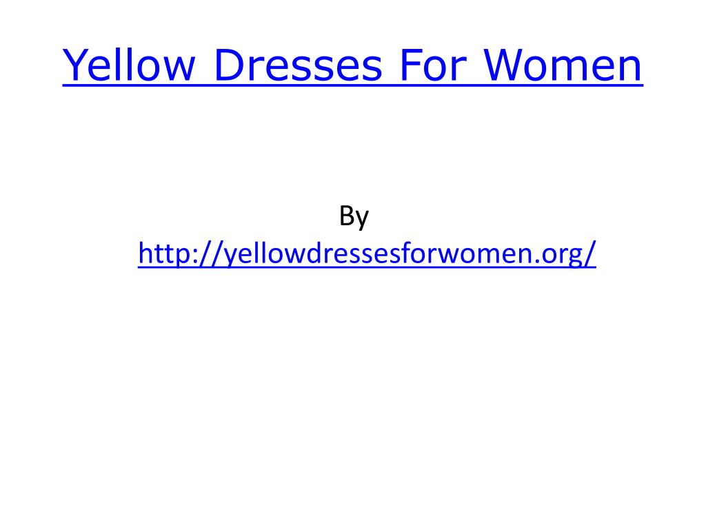 yellow dresses for women l.